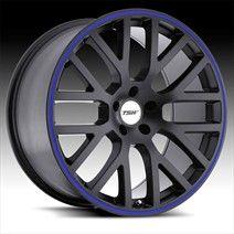 TSW Wheels - TSW Donington Matte Black with Blue Pinstripe $226-306