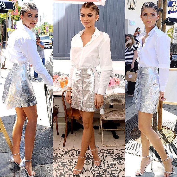 Saia prata com camisa social? Deixe com a @zendaya! No Fashionismo tem post recheado de looks lindos da atriz. Link na bio  #zendaya