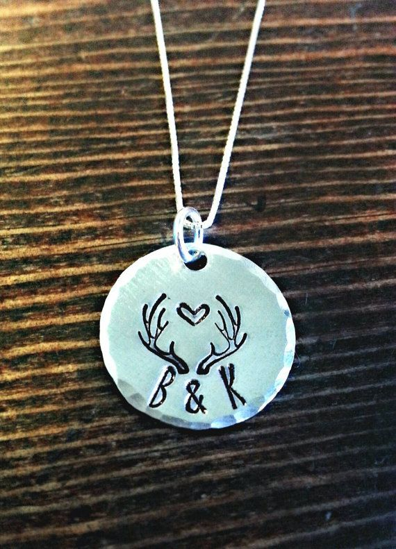 Deer antler necklace, couples gift, gift for her, heart jewelry, gift for outdoor woman, hunter, lady hunter, deer antler,hunting, valentine