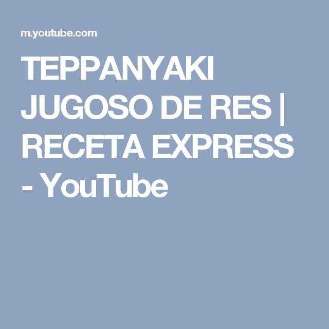 TEPPANYAKI JUGOSO DE RES | RECETA EXPRESS - YouTube