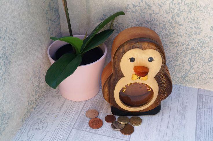 Childrens wooden money box, personalised money box, animal money box, christening gift, childs birthday gift, money box, childs gift by celebrateyourway on Etsy