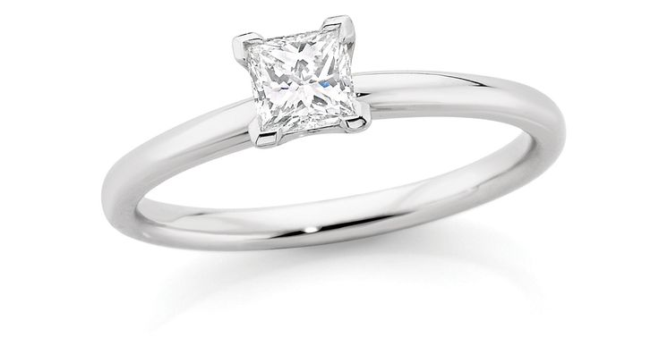 0.40ct Princess Cut CandianFire Diamond Solitaire Ring $3999