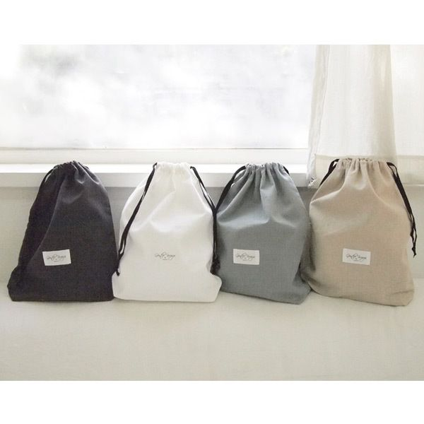 Page25 Natural and Pure fabric gentle drawstring pouch - fallindesign
