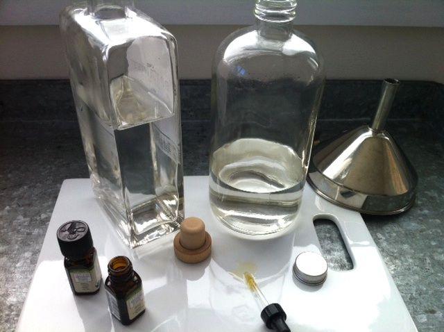 DIY eau de cologne.  Looks very easy. essential oils, vodka, spring water...