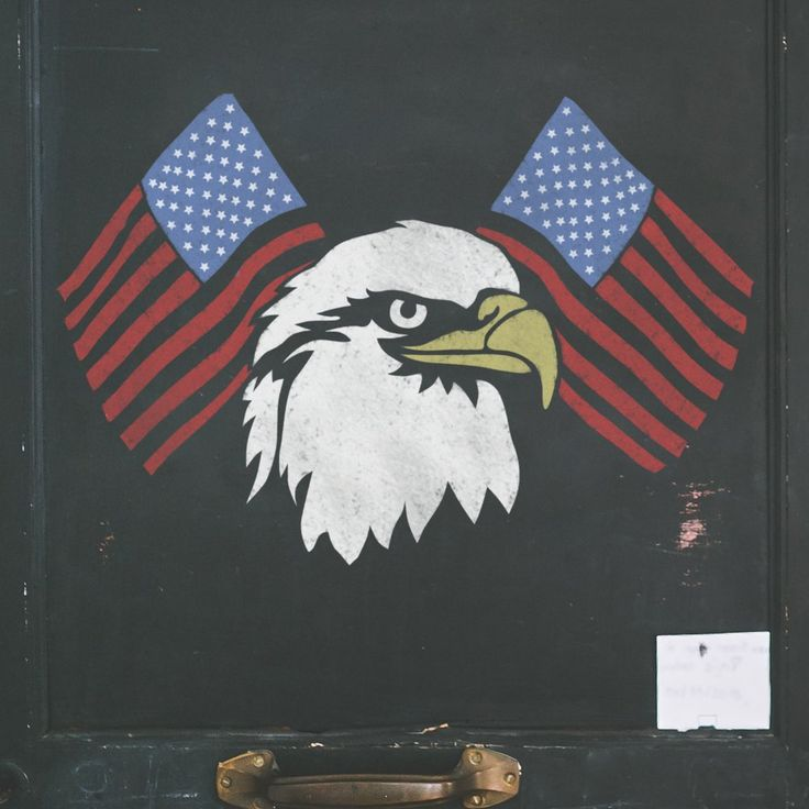 American Flag & Eagle Stencil - Independence Day Decorations - 4th of July Decor - Independence Day Stencil - American Flag Stencil