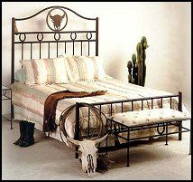 Frontier Bed-theme bed-cowboy bedroom furniture-western theme bedrooms-southwestern style