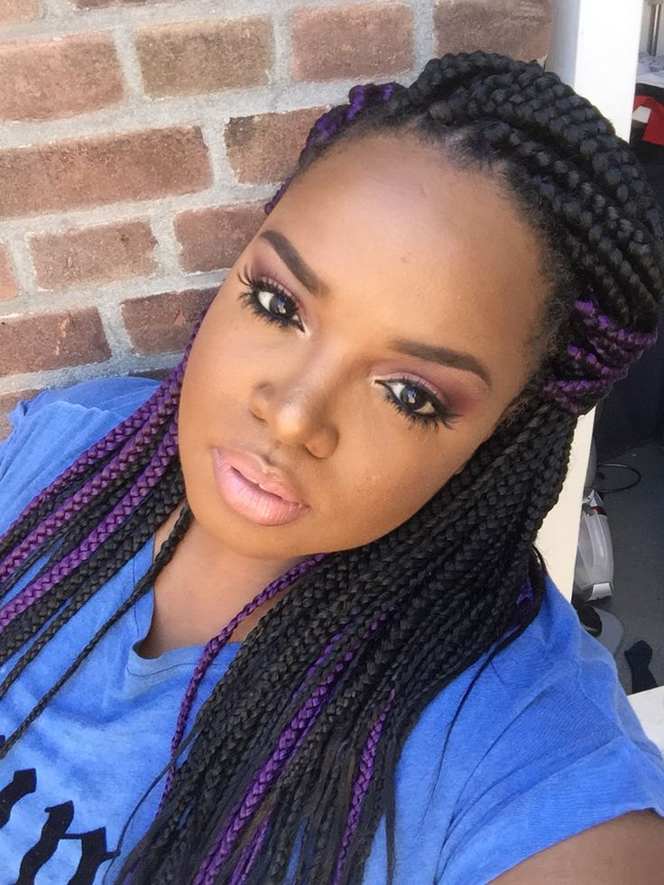 20+ Purple Box Braids ideas on Pinterest - Box braids, Long box braids ...