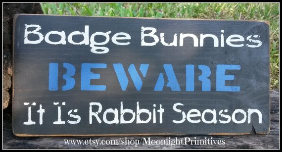 Police Badge Bunnies Beware  It's Rabbit by MoonlightPrimitives