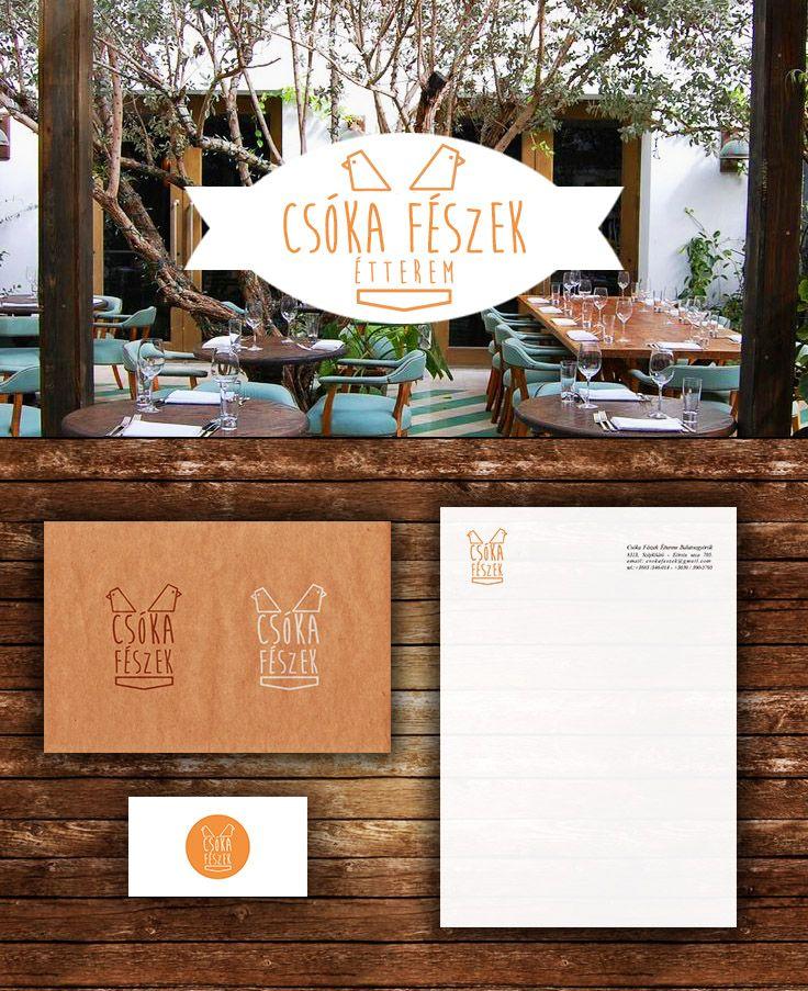 Csóka Fészek Restaurant Logo Kustan Adam logo, branding, design, bird