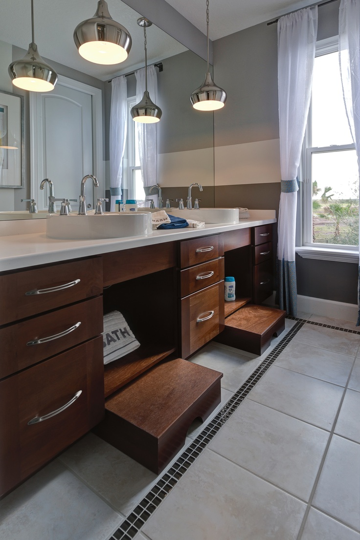 spectacular bathroom vanities brampton. Built in stepping stools the bathrooms and kitchen  For Aubrie 22 best Bath Lighting Inspiration images on Pinterest Bathroom