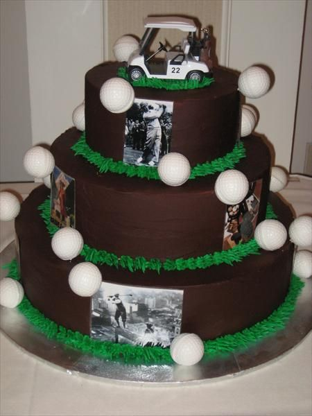 1000 Images About Golf Theme Wedding Cakes On Pinterest