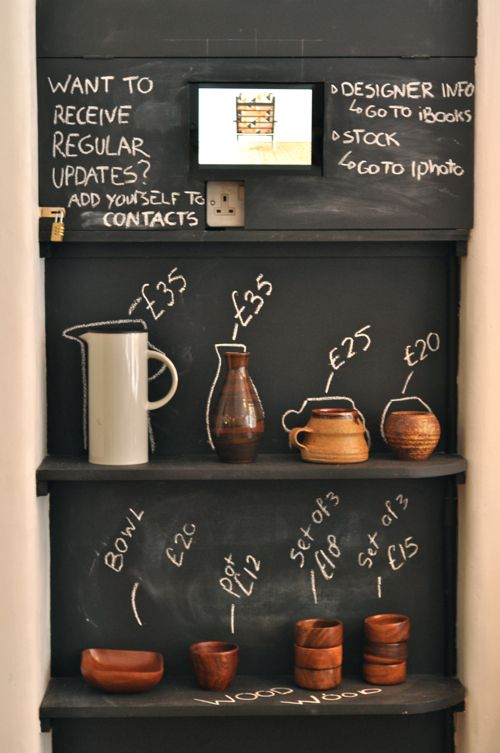chalkboard paint display
