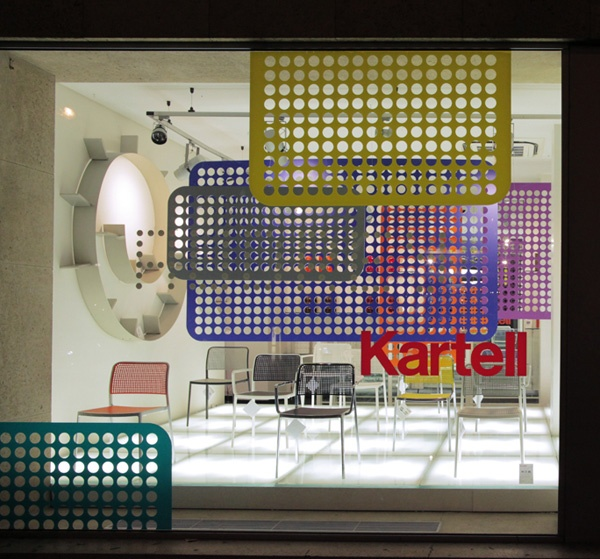 Kartell is an Italian designer/manufacturer.  At home, we have 5 chairs, 2 lamps and some smaller stuff from them.