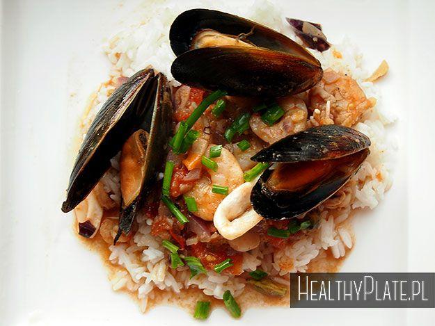 Oriental seafood stew / plato oriental con mariscos