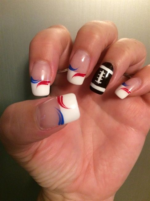 New England Patriots Design by Gizmo1 via @nailartgallery #nailartgallery #nailart #nails #gel