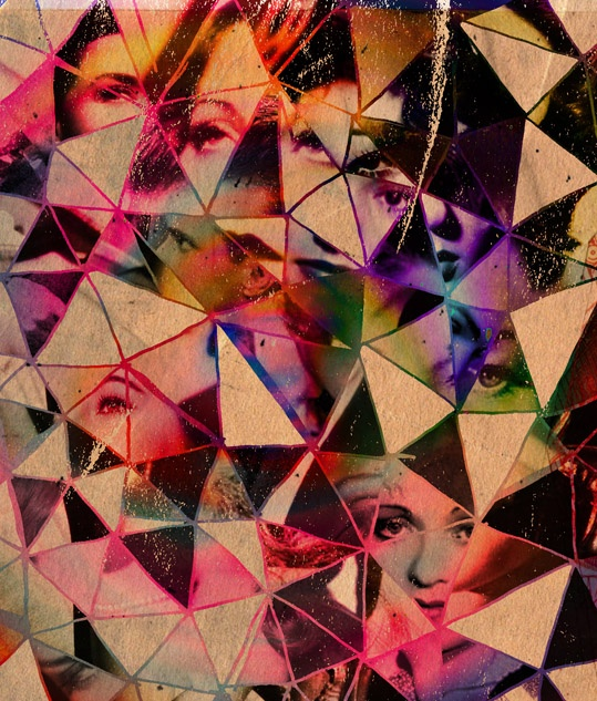 Psychedelic + geometric + old movies. Reggleston  #nastygal #minkpink: Psychedelic Art, Collage Art, Colors Prism, Art Insp, Broken Glasses, Cool Ideas, Colours Glasses, Geometric, Shattered Glasses