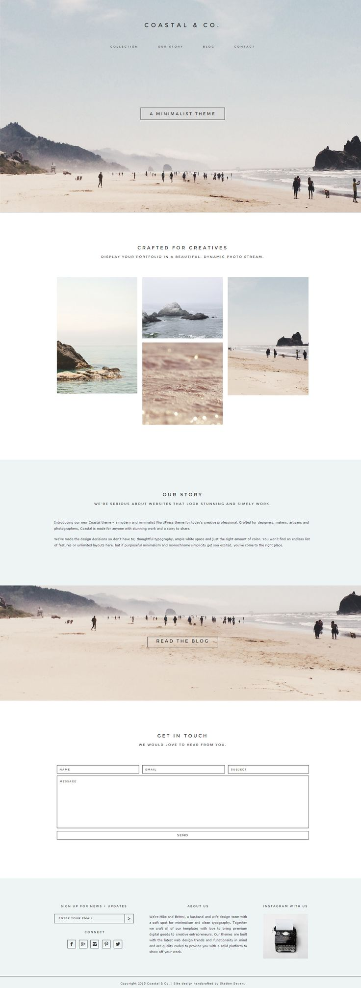 Coastal is Premium full Responsive WordPress Theme for creative professional. Genesis Framework.