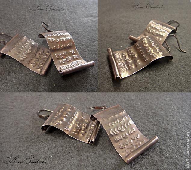 """МК по созданию сережек """"Код Да Винчи"""" - Ярмарка Мастеров - ручная работа, handmade"""