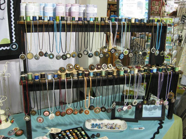 flic.kr/p/8F6RL2 | Whimsy House TCC Booth (7) Necklace Display | Necklace Displa…