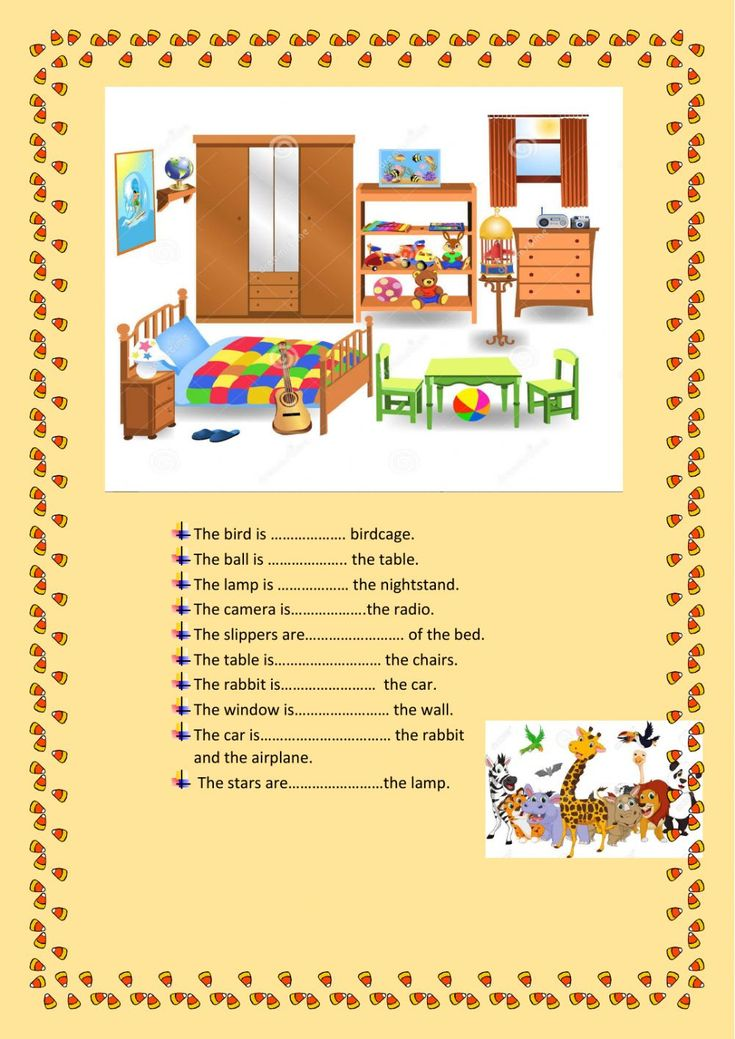 Preposition of place Interactive worksheet in 2020
