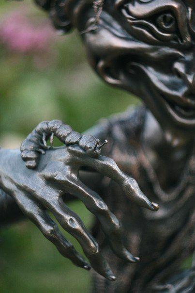 AekaDolls Покровитель Гусеничек Детали - грибочки и ползучая Мелочь... #AekaDolls #GardenSculpture #SculptureDwarf #workspace #artist #art #doll #sculpture #dwarf #artstudio #artspace #мастерская #художник #скульптура #СадоваяСкульптура #лепка
