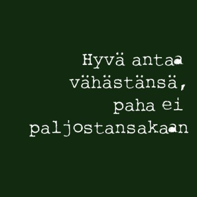 Finnish proverbs and sayings: