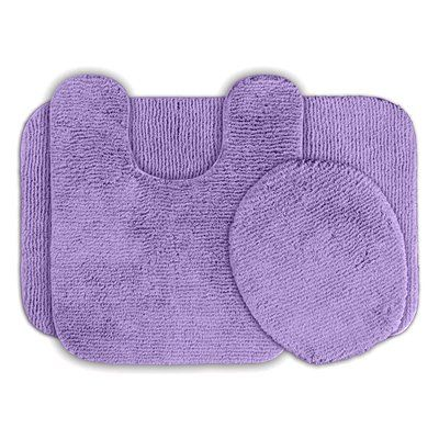 Garland Rug ALU-3pc-09 Glamor Nylon Washable Bathroom Rug (Set #home #decor sale & deals Color:Purple Glamor Collection Bath Rug 3 piece set Glamor bath rugs by Garland Rug will make your feet and toes happy.Made with Invistas Comforel nyl...