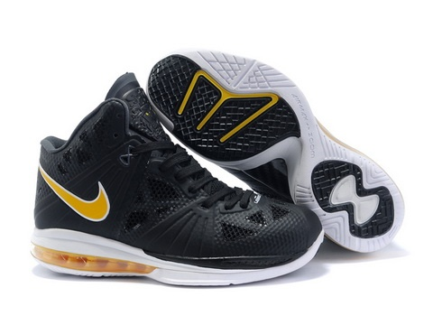Ken Griffey Shoes Nike LeBron 8 PS Black White Varsity Yellow [Nike LeBron  8 PS - The black upper is predominately comprised of Nike's new Fuse  technology ...