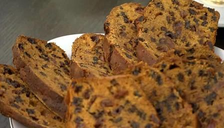 Bara Brith translates to 'speckled bread' (in Welsh) and is a rich fruit loaf made with tea. Produced all over Wales the spiced fruit loaf is delicious when spread with salted Welsh butter.  It can be either a yeast bread enriched with dried fruit (similar to the Irish barmbrack) or something more like a fruitcake made with self-raising flour (no yeast). It is traditionally made with raisins, currants and candied peel.