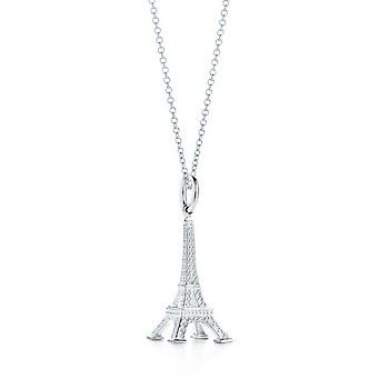 Tiffany & Co Eiffel Tower Charm and Chain