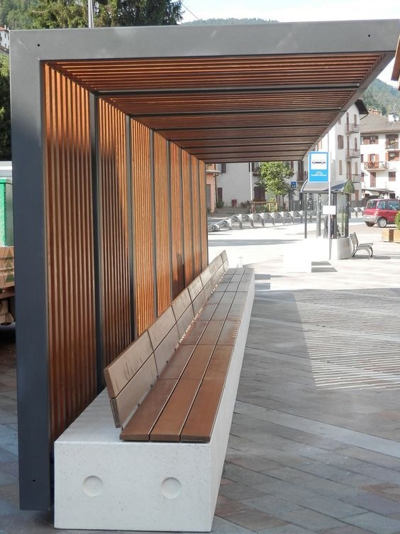 Trentino - Italy. Bellitalia very elegant street furniture solutions: