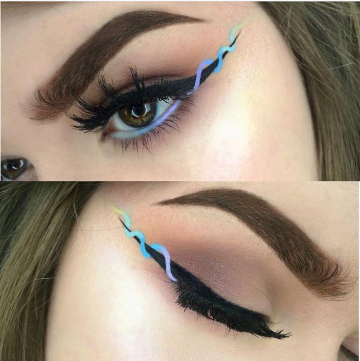 Helix liner unique eyeliner trend! http://www.costerobeauty.com/blog-costero/2016/9/9/helix-liner Credit: @glowawaymeg ombre makeup liner trendy artist