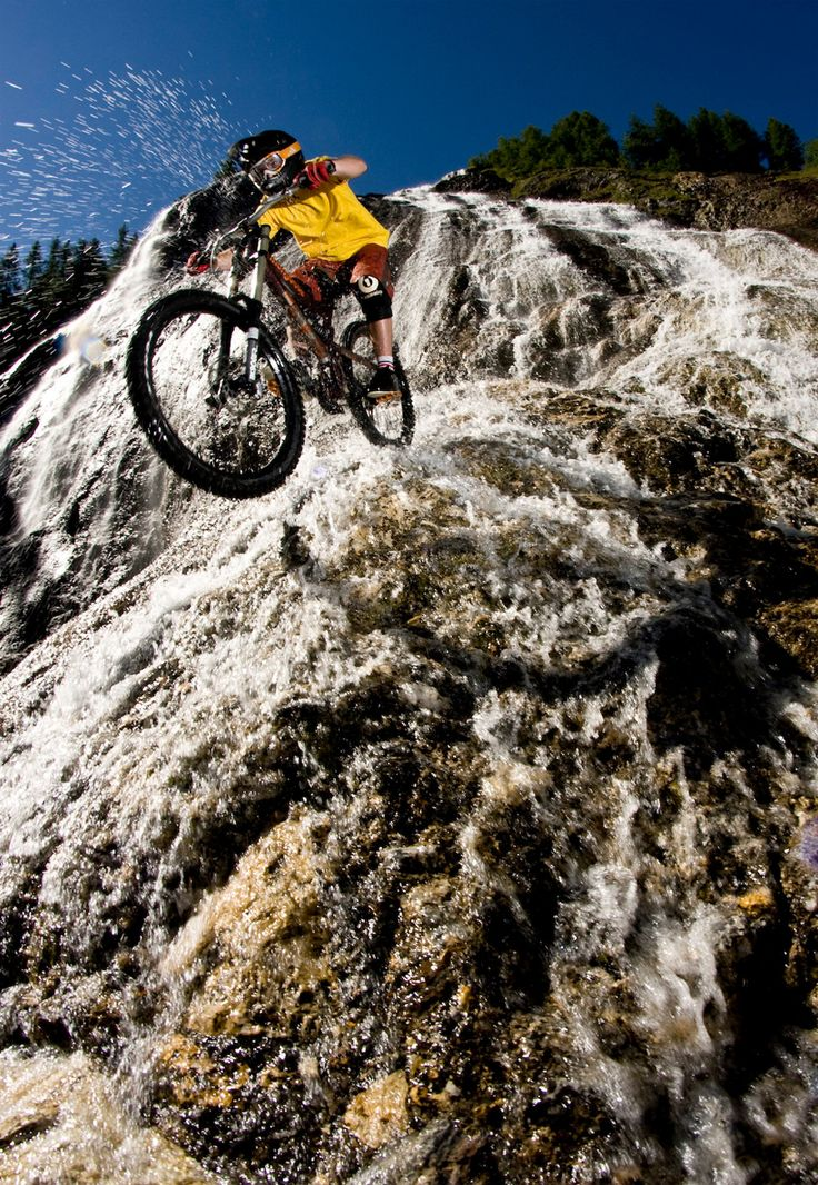Boom! MTB free riding a waterfall - is this for real? #mtb