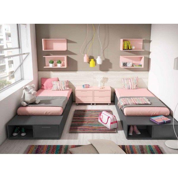 Las 25 mejores ideas sobre habitaci n de chica adolescente - Dormitorio juvenil doble cama ...