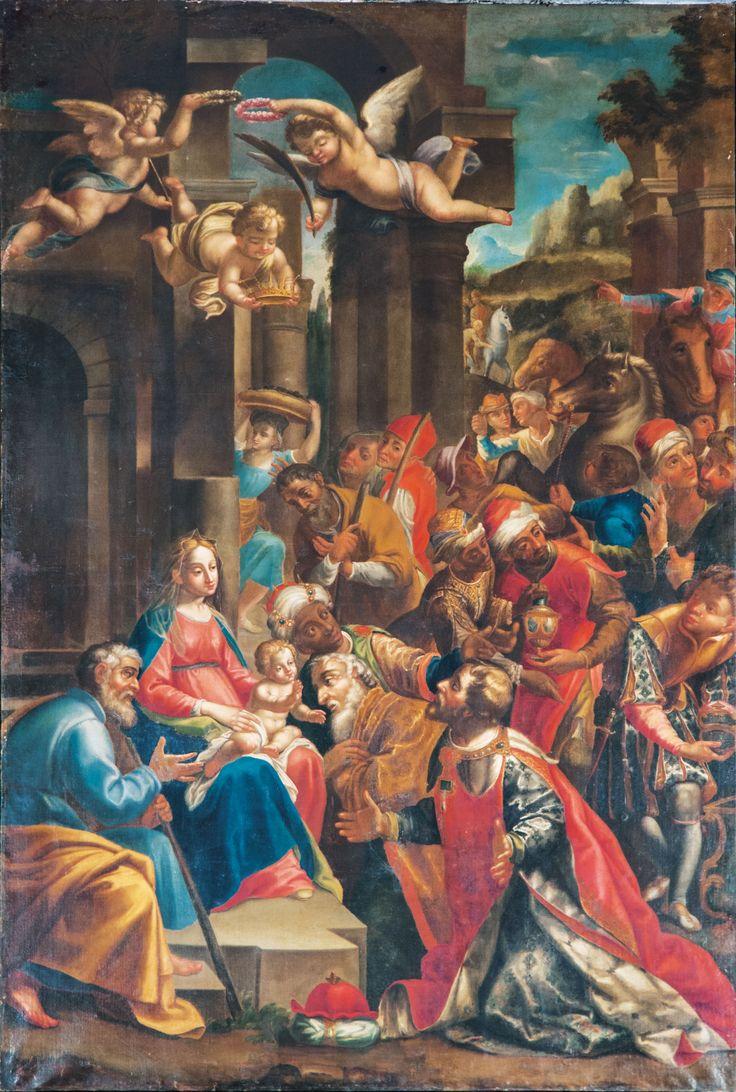 Pittore del XVII sec. Adorazione dei Magi, Norcia, Basilica di S Benedetto