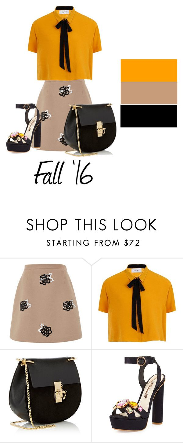 """Fall ' 16"" by any-dazaperez ❤ liked on Polyvore featuring Christopher Kane, Elvi, Chloé and Sophia Webster"