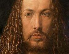 Albrecht Dürer Analyse de l'autoportrait peinturé sur panneau de bois de l'artiste Albrecht Dürer. Un autoportrait frontal de lui-même à vingt-huit ans et vêtu d'un manteau à col de fourrure.