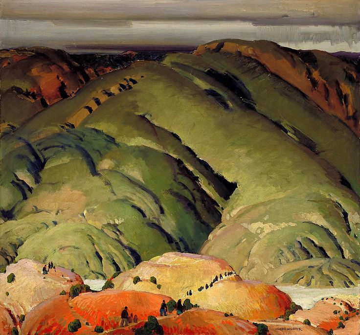 ☼ Painterly Landscape Escape ☼ landscape painting by William Victor Higgins -'Mountain Forms II' New Mexico