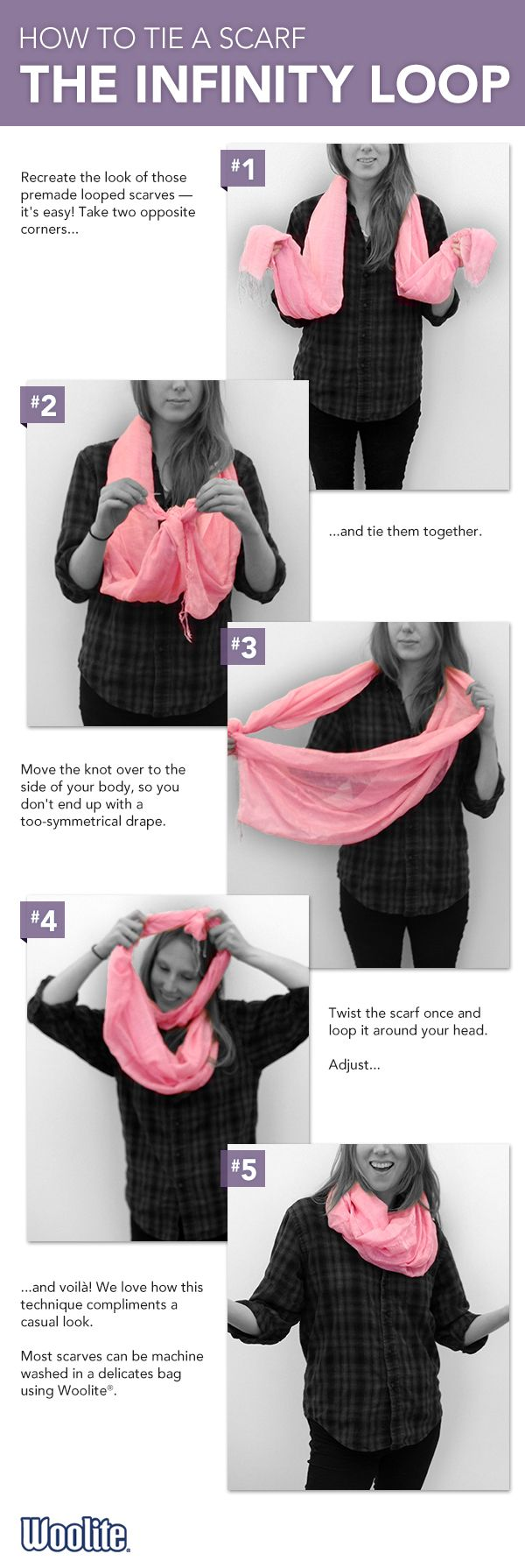 19 Best How To Tie A Scarf Images On Pinterest Head Scarfs The Doublewrap Double Windsor Knot Learn Fashionable Long Infinity Loop With This Tip From