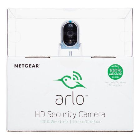 Arlo HD Security Camera - 1 HD Camera Security System, 100% Wire-Free, Indoor/Outdoor Cameras with Night Vision (VMS3230), White