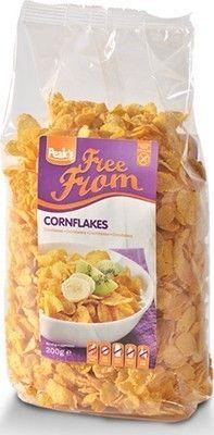SPEAK'S corn flakes sans gluten 200gr Corn flakes à base de maïs pour un petit déjeuner riche en vitamines B et fer. Pour une alimentation sans gluten et sans oeufs. Source d'énergie délicieuse et saine. www.chockies.net