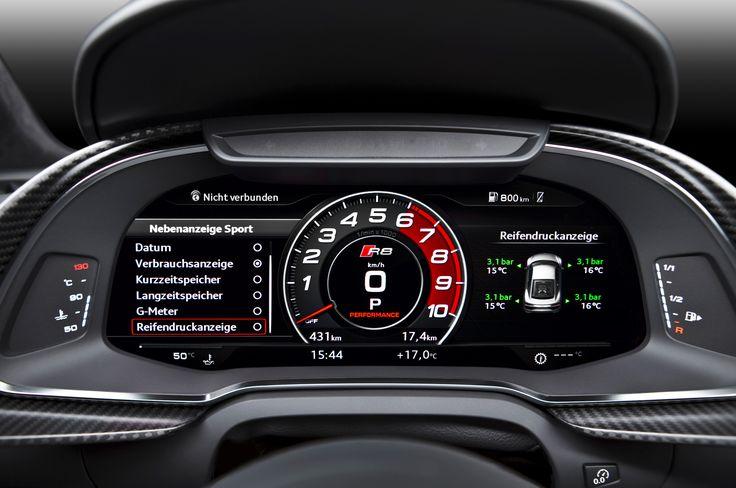 2017 Audi R8 V10 Instrument Cluster Audi R8 Pinterest Audi