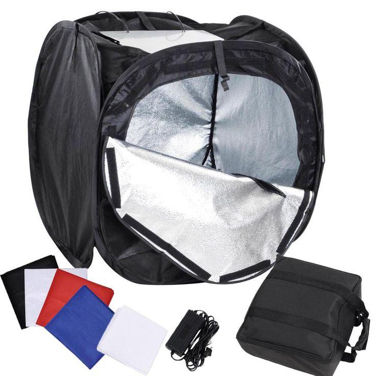 """24"""" Photo Tent Light Kit Studio Lighting Cube w/ Backdrops"""