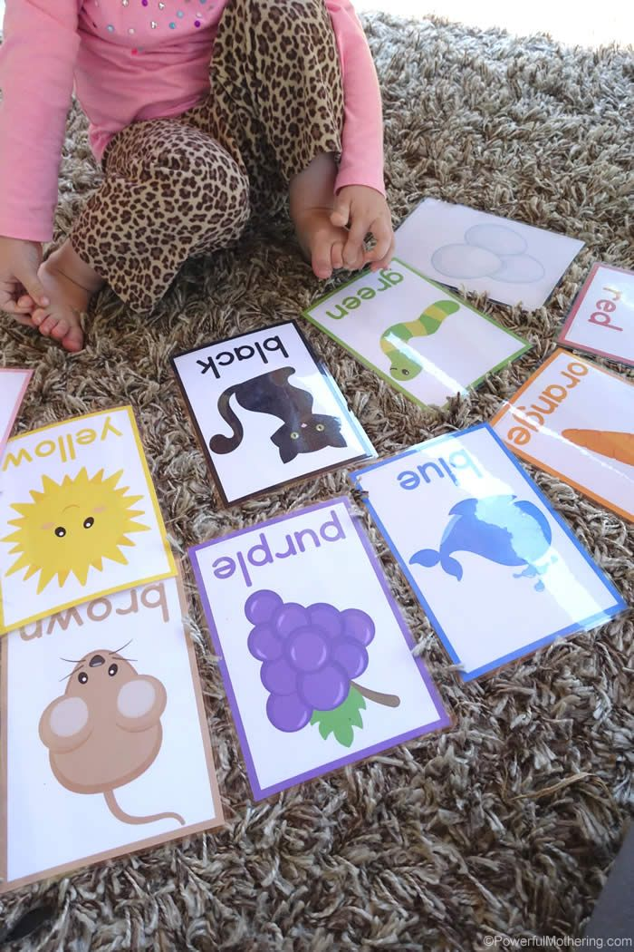 Easy Color Cards For Toddlers