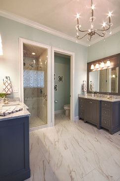 Morning Breeze Paint Color by PPG Voice of Color.   Homearama Rock Springs 2013 - Bathroom - Louisville - Lady of the HOUSE interior design