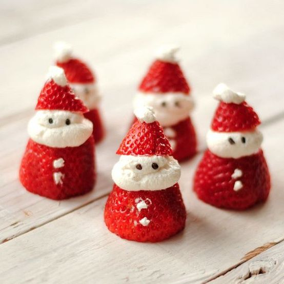 Festive Strawberry Santas