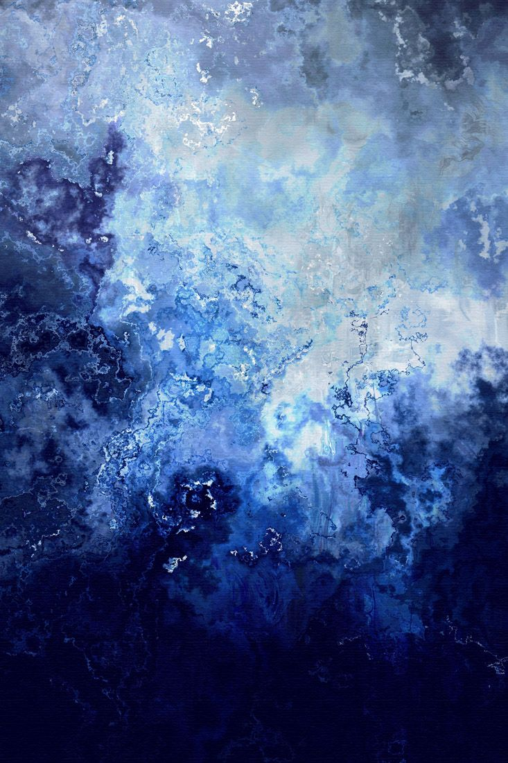 """Sapphire Dream"" by Jaison Cianelli.  Abstract Art, Multimedia Digital Transformative Painting.   http://www.cianellistudios.com"