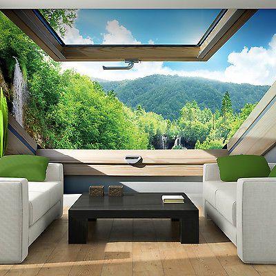 die besten 25 fototapete wasserfall ideen auf pinterest wand wasserfall wasserfall tapete. Black Bedroom Furniture Sets. Home Design Ideas