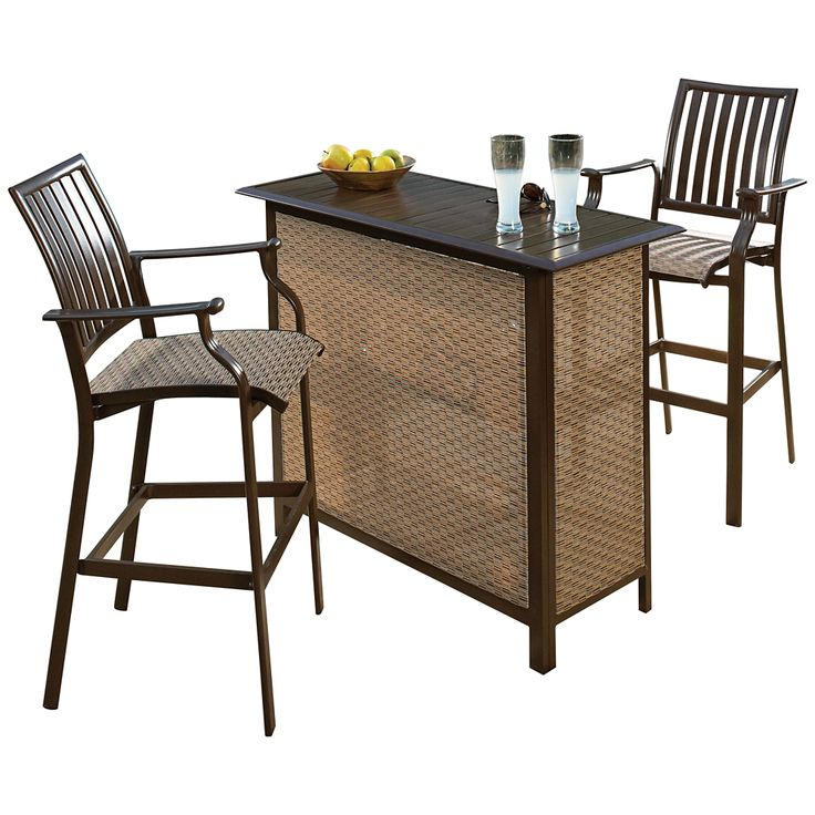 Panama Jack Island Breeze 3-Piece Outdoor Patio Bar Set - Style # 7N462