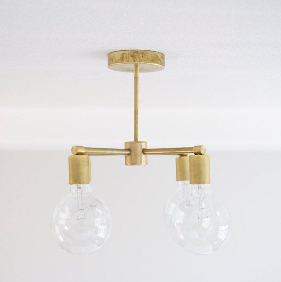 4 Bulb Modern Brass Chandelier By ModernBrass On Etsy Sunroom DiningDining RoomBrass